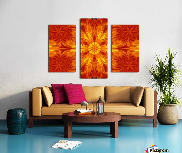Fire Flowers 69 Canvas print