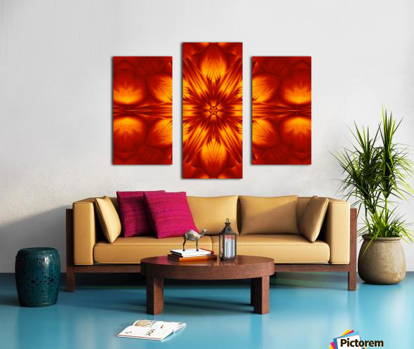 Fire Flowers 74 Canvas print