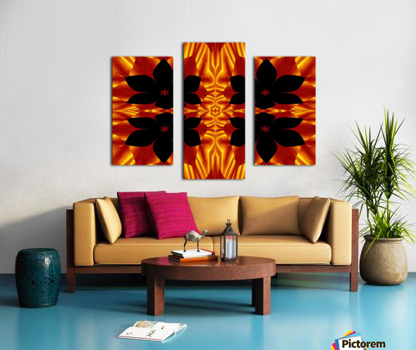 Fire Flowers 89 Canvas print