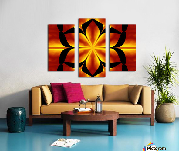 Fire Flowers 91 Canvas print