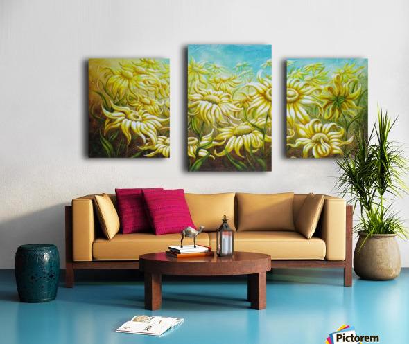 Splash of summer Canvas print