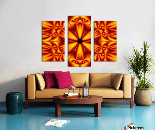 Fire Flowers 103 Canvas print