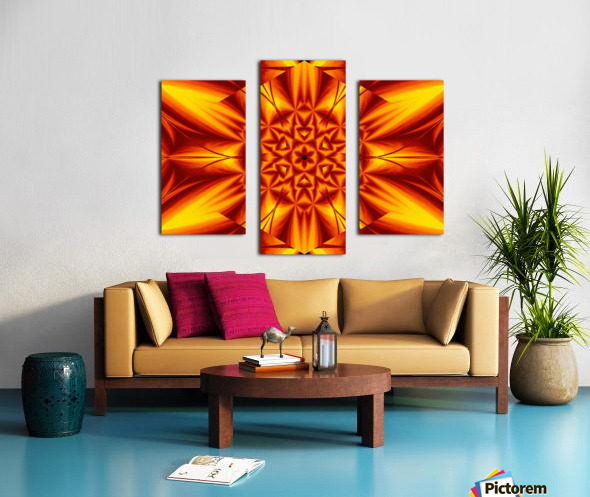Fire Flowers 104 Canvas print