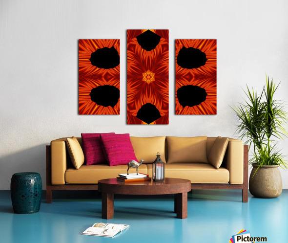 Fire Flowers 105 Canvas print