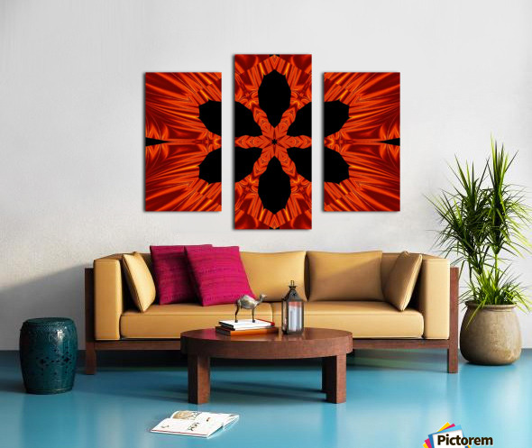 Fire Flowers 106 Canvas print