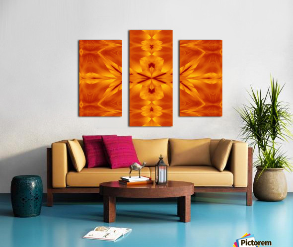 Fire Flowers 117 Canvas print
