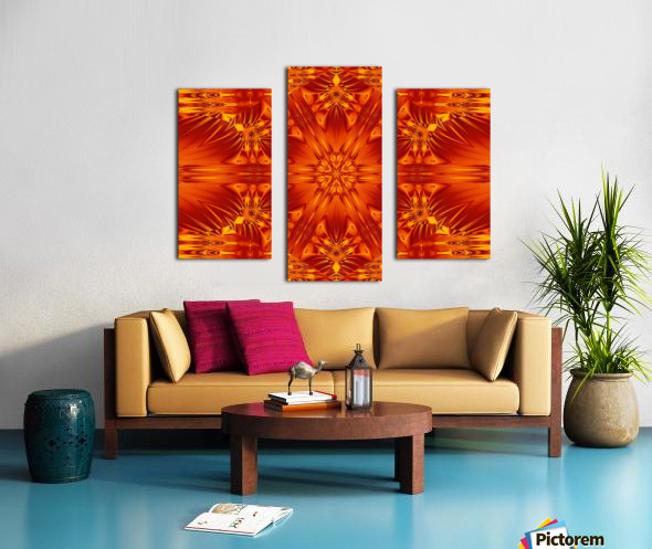 Fire Flowers 141 Canvas print