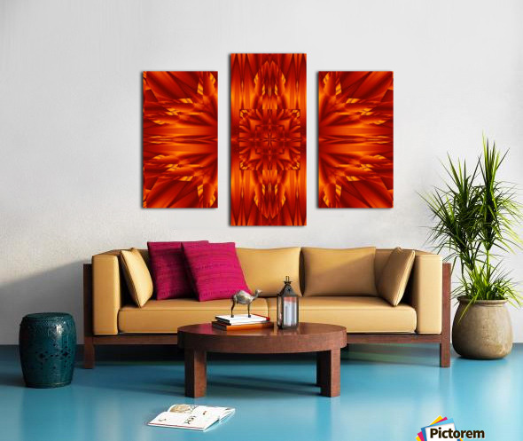 Fire Flowers 190 Canvas print