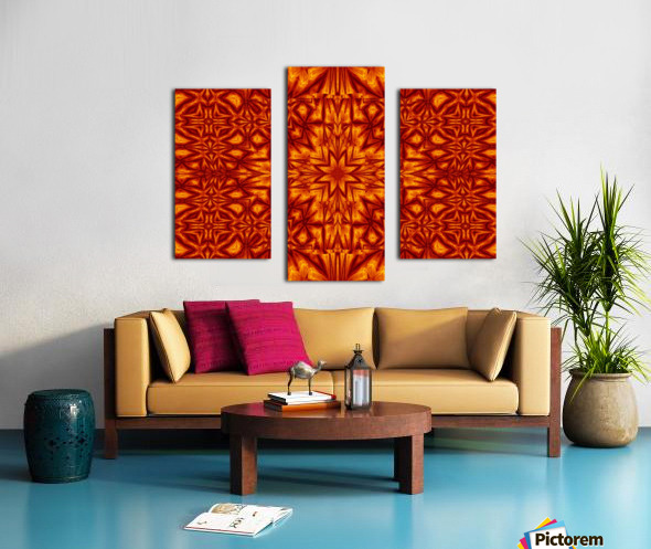 Fire Flowers 210 Canvas print