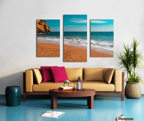 Ocean Beach in Teal and Orange Canvas print