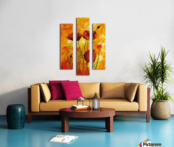 Edit Voros Red Poppies 006 Canvas print