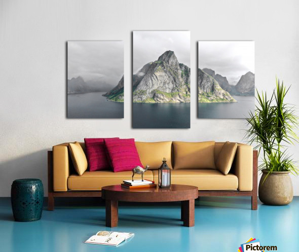 Lofoten 1 Stylized Canvas print