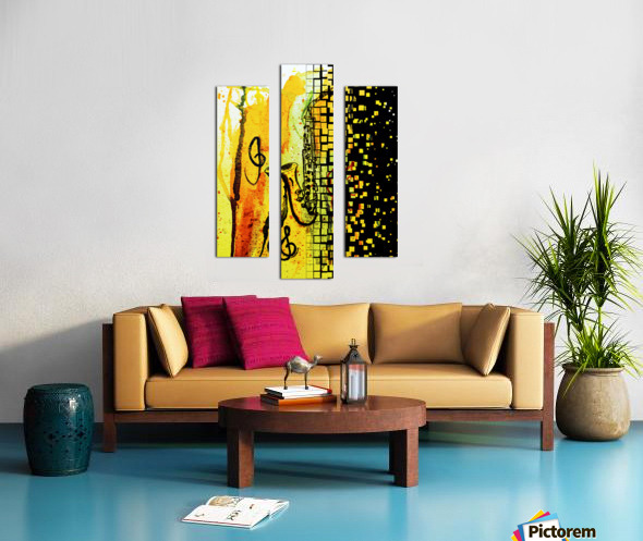 Saxophone Escaping Canvas print
