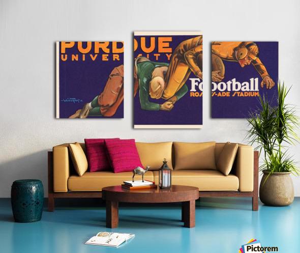 1929 purdue football art Canvas print