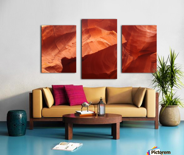 Eroded Wall of Antelope Canyon  Canvas print