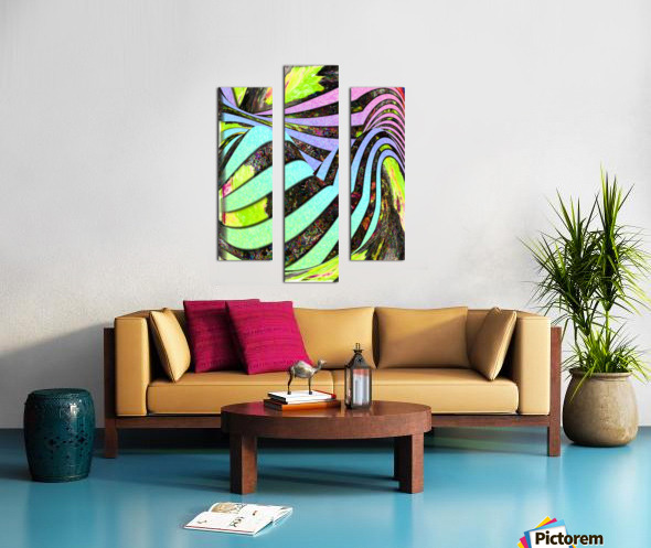Yipes Its stripes Canvas print
