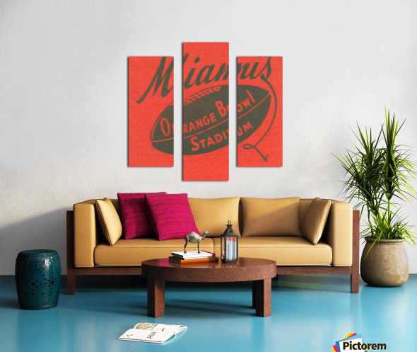 1950 Miami Orange Bowl Canvas print