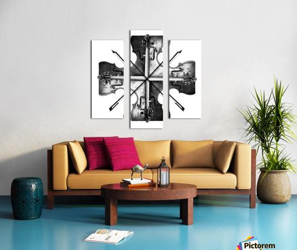 Harmony 36x36 BW Canvas print