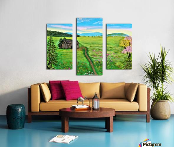 Sweet Little Home on Plains Canvas print