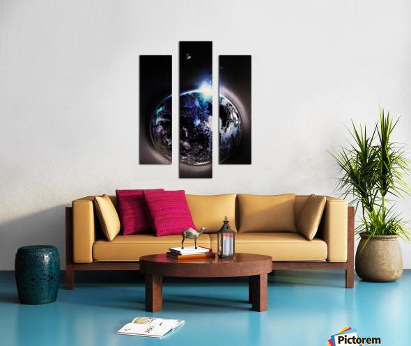 Cosmic Sapphire Canvas print