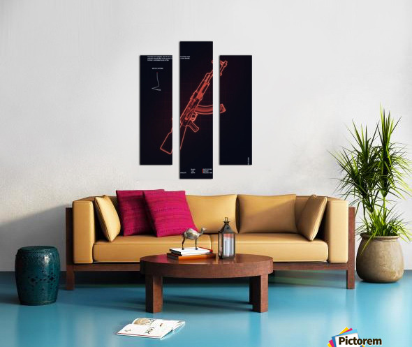 AK-47 CSGO WEAPON Canvas print
