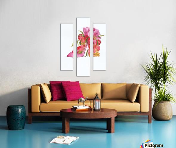 Flower heel Canvas print