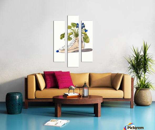 Chucks and Flowers  Canvas print