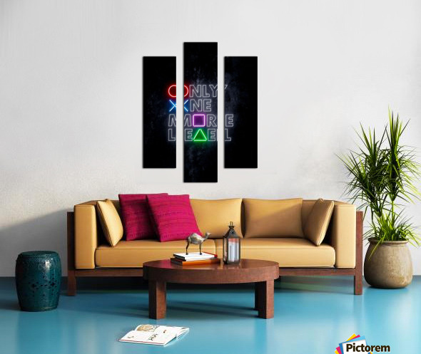 ONLY ONE MORE LEVEL Canvas print