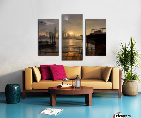 NYSunset Canvas print