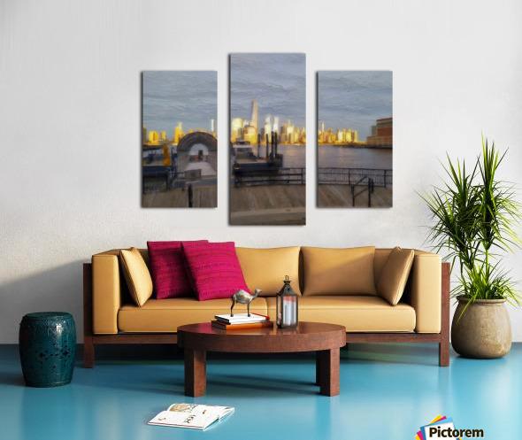 GoldenManhattan p Canvas print