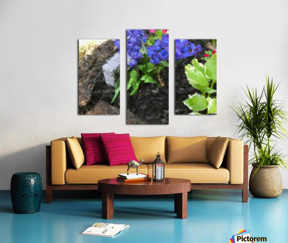 Flower p Canvas print