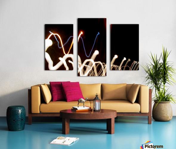 WHITE WORM Canvas print