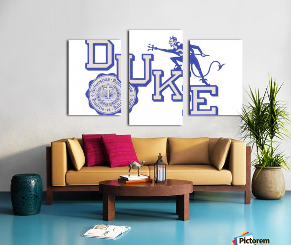 Vintage Duke University Art Canvas print