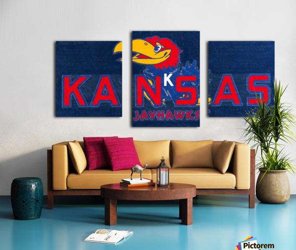 1950s Kansas Jayhawk Art Canvas print