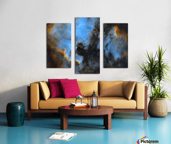 North American and Pelican Nebula Canvas print