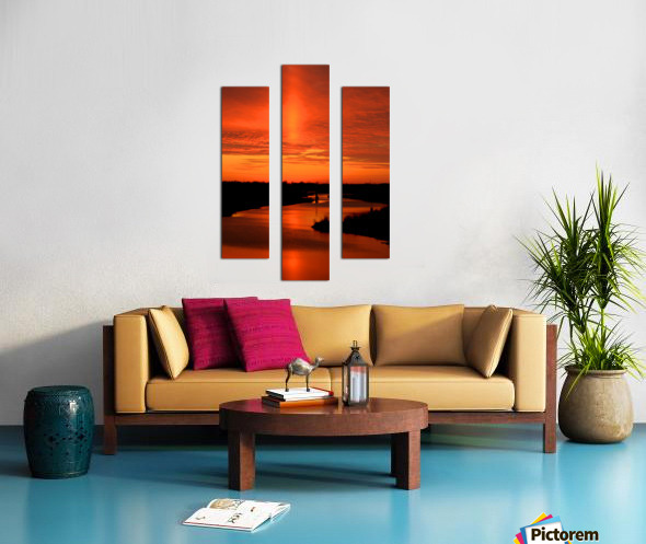 Big Ditch Sunset Canvas print