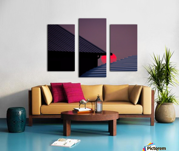 Smokey Sunset and Steel Roofs Canvas print