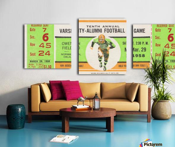 1958 Oklahoma Sooners Varsity Alumni Game Canvas print