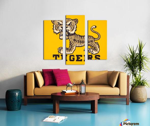 1950s Missouri Tigers Art Print Canvas print