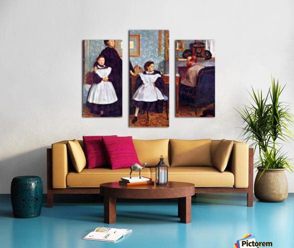 Portait of the Bellelli family by Degas Canvas print