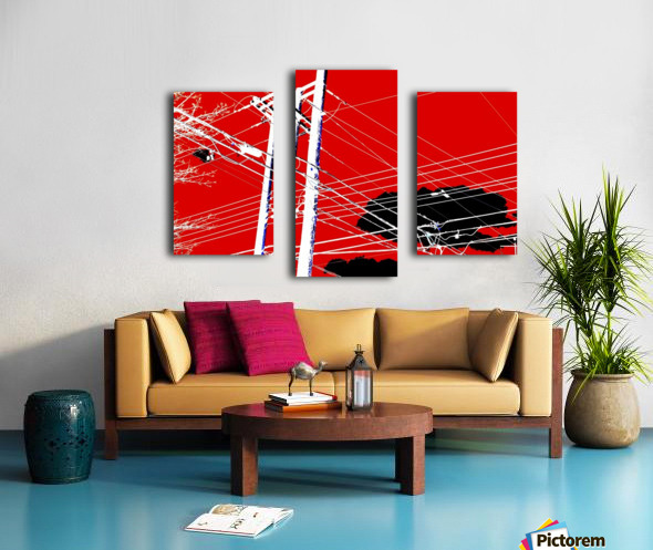 COTE SAINT LUC RED Canvas print
