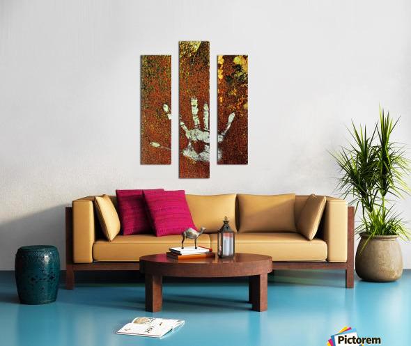 Rusty Door Hand Print Canvas print