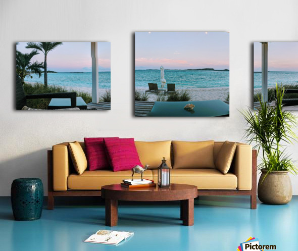 Sunset in Highbourne Cay Canvas print