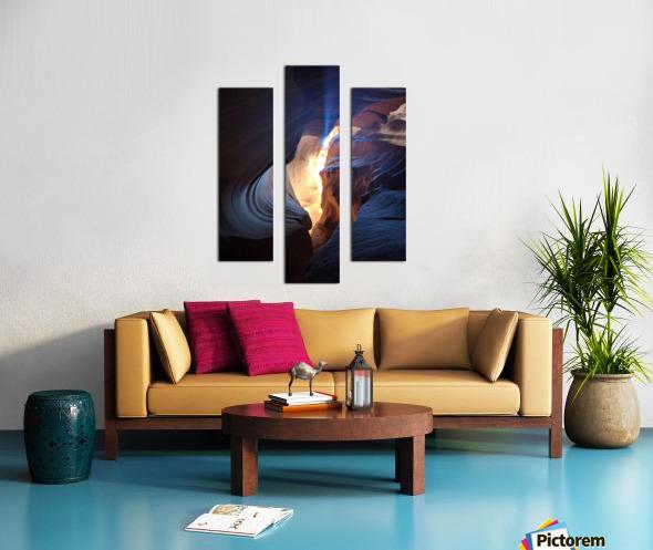 A Light in the Dark Canvas print