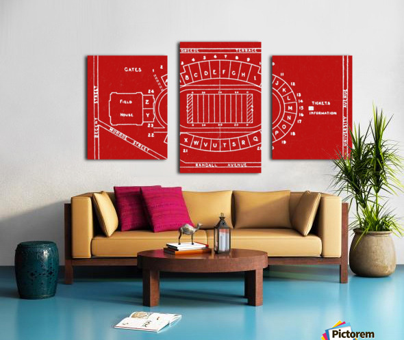 1937 Camp Randall Stadium Map Canvas print