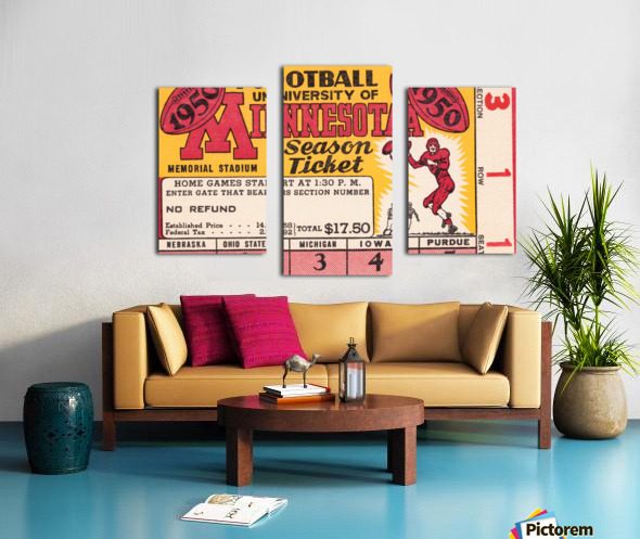 1950 University of Minnesota Season Ticket Canvas print