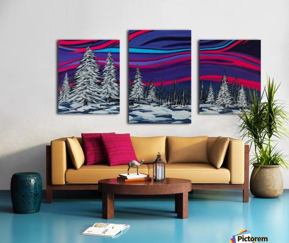 Snowy Trees Chinook Art IMG_0180 Canvas print