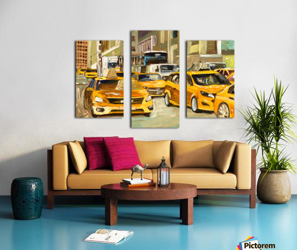 Cabs rushing By Canvas print