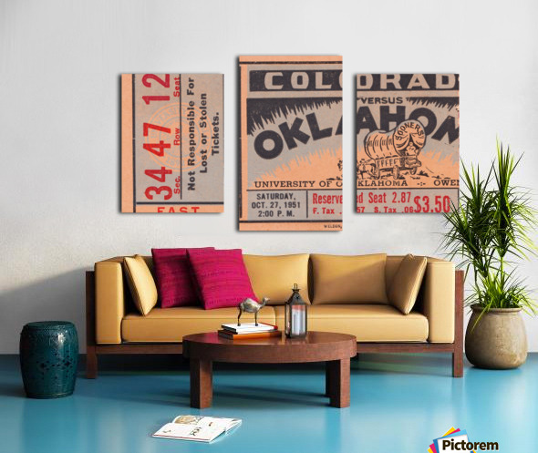 1951 Oklahoma vs. Colorado Canvas print