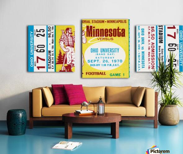 1970 Minnesota vs. Ohio Canvas print